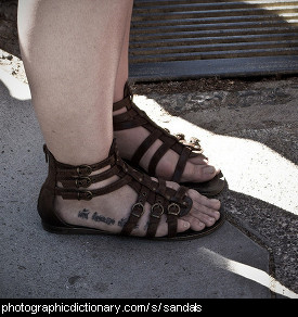 Photo of someone wearing sandals