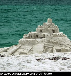 Photo of a sandcastle