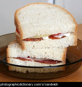 Photo of a sandwich