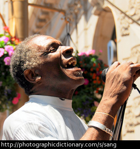 Photo of a man singing