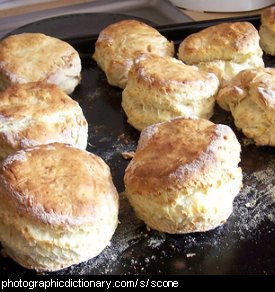 Photo of a tray of scones