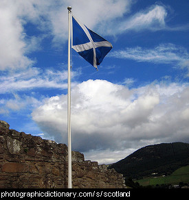 Photo of the Scottish flag