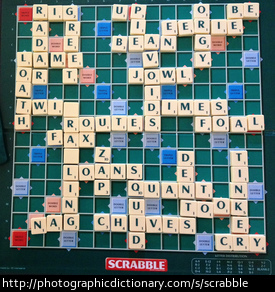 A game of scrabble.