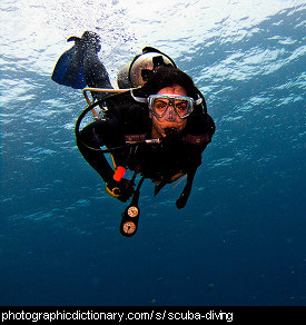 Photo of someone scuba diving