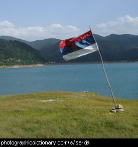 Photo of the Serbian flag