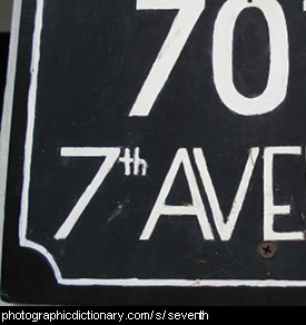 Photo of a sign that says 7th