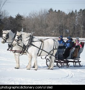 Photo of a horse drawn sled