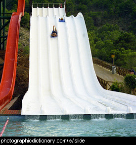 Photo of a water slide