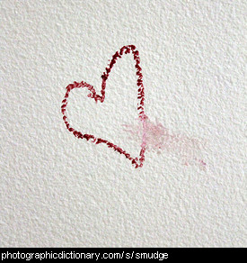 Photo of a smudged heart