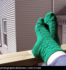 Photo of some green socks
