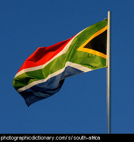 Photo of the South African flag