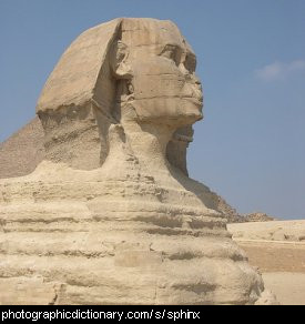 Photo of a sphinx in Egypt