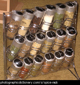 Photo of a spice rack