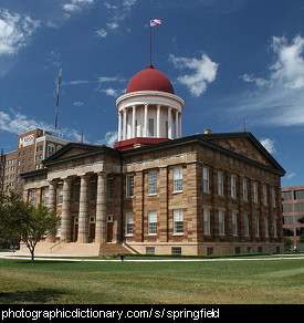Photo of the old Capital building in Springfield