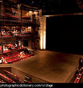 Photo of a theatre stage