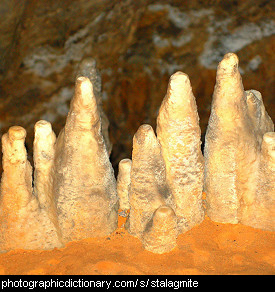 Photo of stalagmites