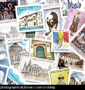 Photo of some stamps