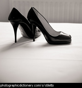 Photo of a pair of stiletto heeled shoes