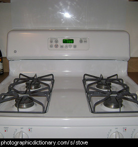 Photo of a gas stove.