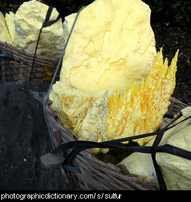 Photo of sulfur