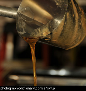 Photo of syrup being poured