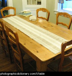 Photo of a dining table and chairs