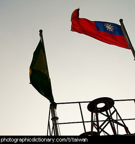 Photo of the Taiwanese flag