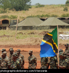 Photo of a Tanzanian flag