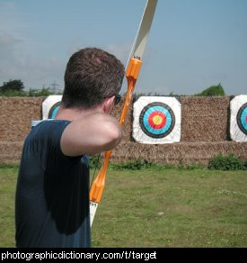 Photo of an archery target