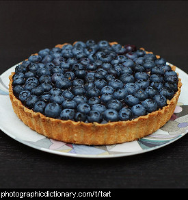 Photo of a blueberry tart
