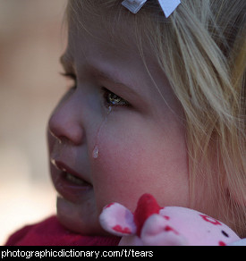 Photo of a child crying