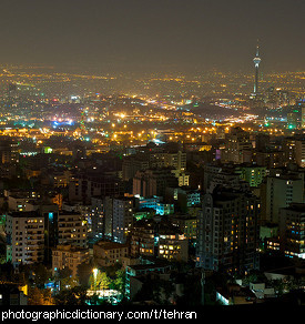 Photo of Tehran at night