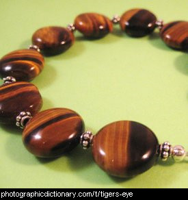 Photo of a tiger's eye necklace