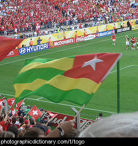 Photo of the Togo flag