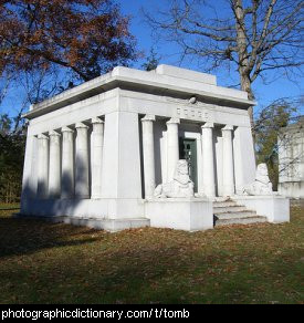Photo of a mausoleum or tomb
