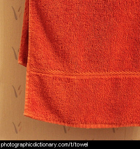 Photo of an orange towel