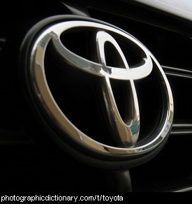 Photo of a Toyota badge