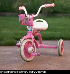 Photo of a pink tricycle