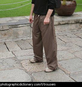 Photo of a man wearing trousers