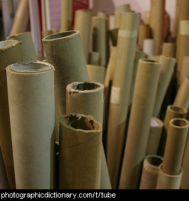 Photo of cardboard tubes