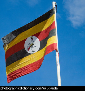 Photo of the Ugandan flag