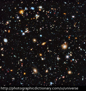 A picture of the known universe from the Hubble space telescope.