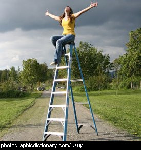 Photo of someone up a ladder