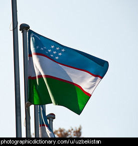 Photo of the Uzbekistan flag