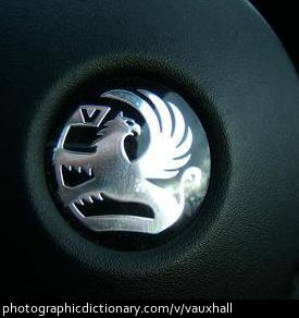 Photo of a Vauxhall badge