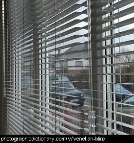 Photo of a venetian blind