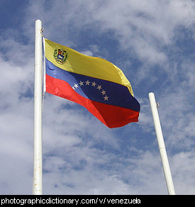 Photo of the Venezuelan flag