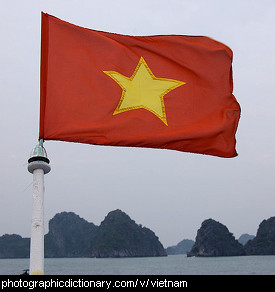 Photo of a Vietnamese flag