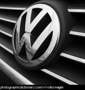 Photo of a Volkswagen badge