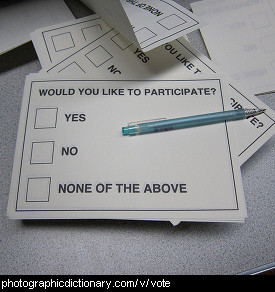 Photo of a ballot paper